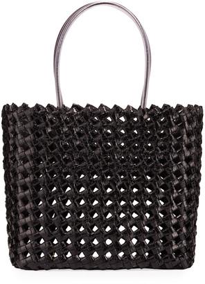 Nancy Gonzalez Large Woven Snakeskin Tote Bag