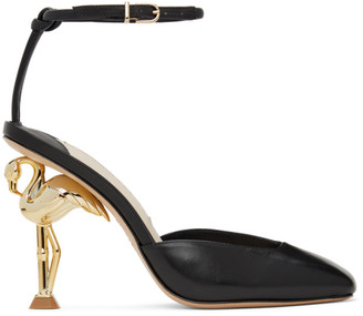 Sophia Webster Black Flo Flamingo Heels