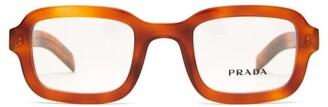 Prada Square Acetate Glasses - Womens - Tortoiseshell