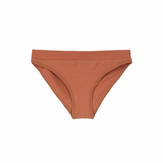 Ouxbm Womens Bikini Underwear Panties Nylon No Side Seam 1 Pair (Orange-1 Pair Medium)