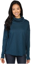 Lilla P Pima Modal Slub Dropped Shoulder Cowl Neck