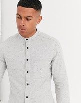 Asos Design ASOS DESIGN regular fit nep flannel shirt in grey