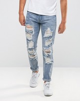 Liquor & Poker Rigid Ripped Jeans Slim Fit