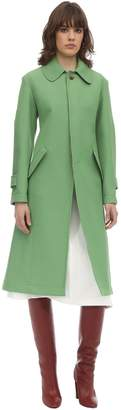 Lanvin Embroidered Wool & Cotton A-line Coat