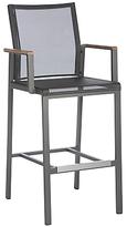 Barlow Tyrie Aura Outdoor Bar Chair, FSC-Certified (Teak), Graphite