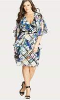 City Chic Orchid Faux Wrap Dress