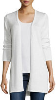 Neiman Marcus Long Sequin Cashmere Open Cardigan