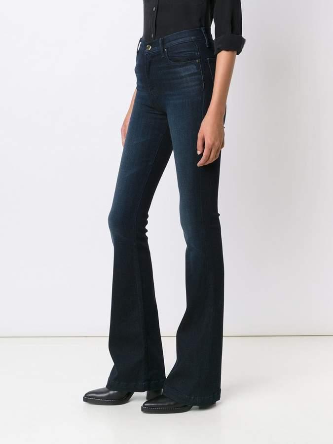 J Brand high rise flared jeans