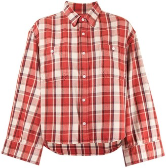 R 13 Plaid Print Shirt