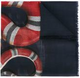 Gucci kingsnake print scarf - men - Wool - One Size