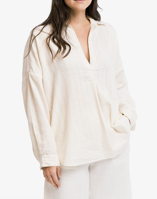 Madewell LAUDE the Label Oversized Tunic in Ivory Khadi