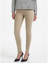 7 For All Mankind High Waist Skinny Slim Illusion Cropped Jeans, Taupe