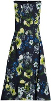 Erdem Heta Hasu Night-print matelassé dress