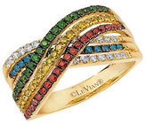 LeVian Exotics Multi-Colored Diamonds and 14K Honey Gold Ring