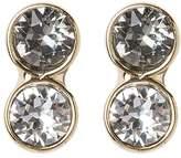 Karen Millen Earrings light goldcoloured/crystal/black diamond