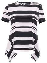 Neil Barrett Women's White/black Silk T-shirt.