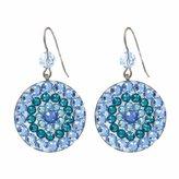 Tarina Tarantino Crystal Mandala Earrings in Blue
