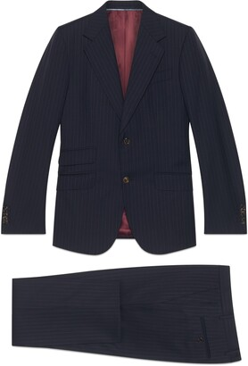 Gucci Fitted pinstripe suit