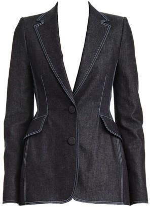 Carolina Herrera Denim Tailored Jacket