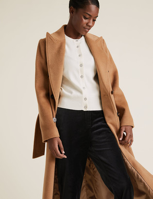 Marks and Spencer Soft Touch Crew Neck Button Front Cardigan