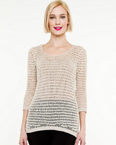 Le Château Metallic Relaxed Sweater
