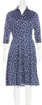 Samantha Sung Polka Dot Print A-Line Dress
