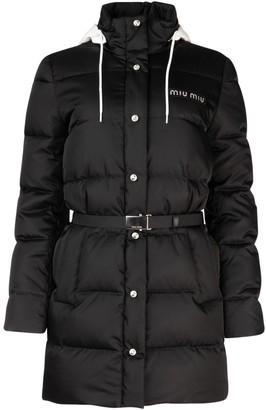 Miu Miu Belted Puffer Down Jacket