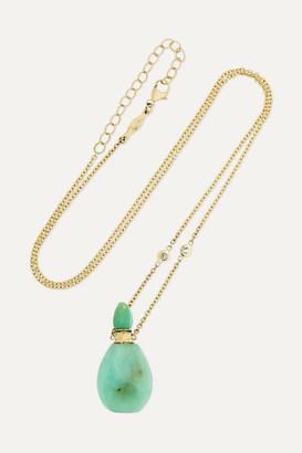 Jacquie Aiche 14-karat Gold, Chrysoprase And Diamond Necklace