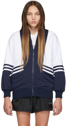 Noon Goons Navy and White Runyon Jacket