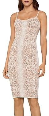 BCBGMAXAZRIA Snakeskin Print Sleeveless Dress