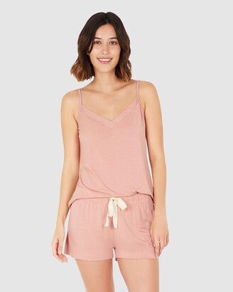 Boody Organic Bamboo Eco Wear - Women's Pink Sleepwear - 2 Pack Goodnight Sleep Cami - Dusty Pink - Size One Size, XS at The Iconic
