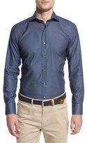Peter Millar Portsmouth Printed Sport Shirt, Barchetta Blue