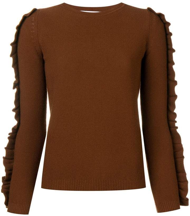 Max Mara ruffle trim sweater