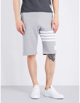 Thom Browne Four-stripe Cotton-jersey Shorts