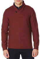 Perry Ellis Shawl Collar Textured Pullover