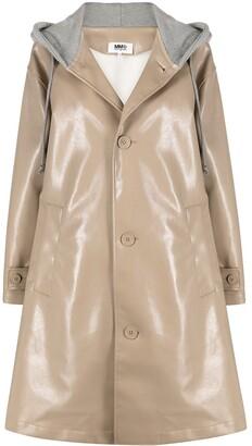 MM6 MAISON MARGIELA Hoodie Trench Coat
