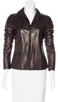 Jil Sander Leather Button-Up Top