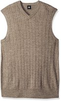 Dockers Big and Tall Soft Acrylic Solid Cable Links Links-Vest