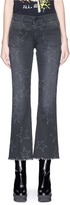 Stella McCartney Star perforated cropped flared denim pants