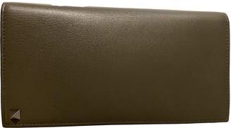 Valentino Guitar Rockstud Green Leather Wallets