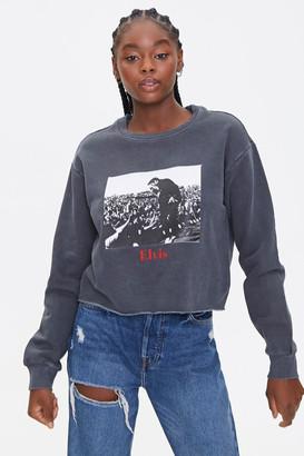 Forever 21 Elvis Presley Fleece Sweatshirt