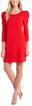 CeCe Puff-Sleeve Knit Dress