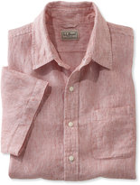 L.L. Bean Bean's Linen Shirt, Slightly Fitted Short-Sleeve Stripe