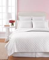 Martha Stewart Collection Collection Cotton White Basket Stitch Full/Queen Quilt