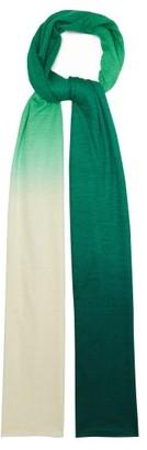 Missoni Gradient Silk And Alpaca Scarf - Green Multi
