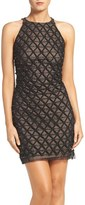 Aidan Mattox Embellished Georgette Sheath Dress