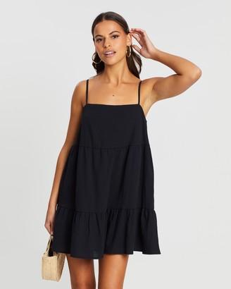 Dazie Harmony Cotton Blend Swing Dress