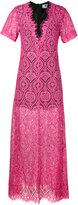 MSGM lace sheer long dress