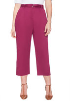ELOQUII Plus Size Belted Cropped Pant