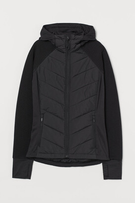 H&M Padded Hooded Outdoor Jacket - Black
